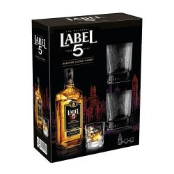 Label 5 Blended Scotch Whisky 0,7l - Darilno pakiranje