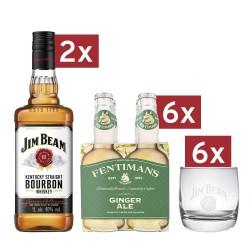 Paket - Jim Beam White, Fentimans Ginger Ale, kozarci