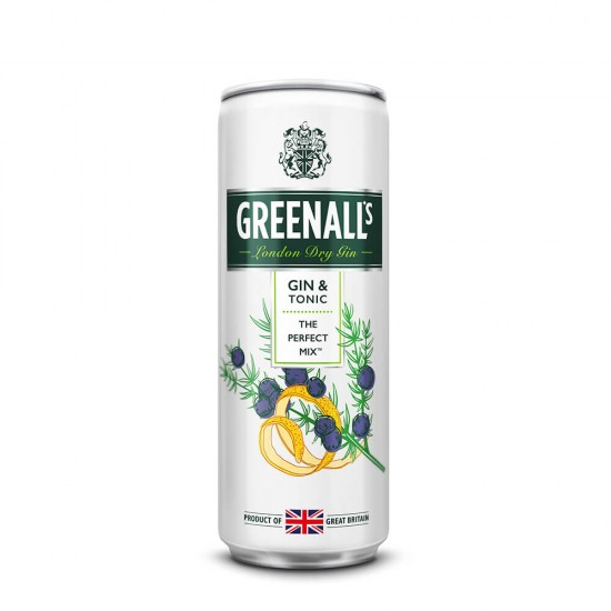 Greenall's Gin & tonik 0,25l-Žgane pijače