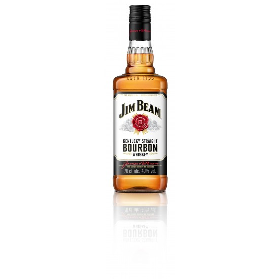 JIM BEAM WHITE, Kentucky, ZDA, 40% vol alkohola-Whisky BOURBON