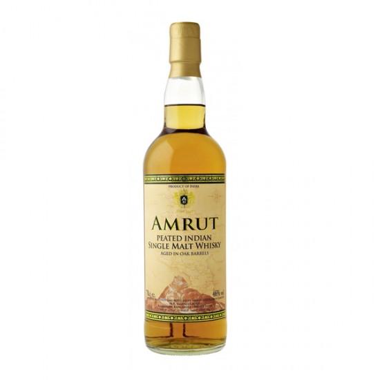 AMRUT PEATED INDIAN SINLGE MALT WHISKY – INDIJA, 0,70L-Whisky INDIJSKI
