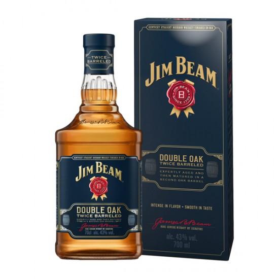 JIM BEAM DOUBLE OAK WHISKY, 43% vol alkohola, 0,70L, Kentucky, USA-Whisky BOURBON